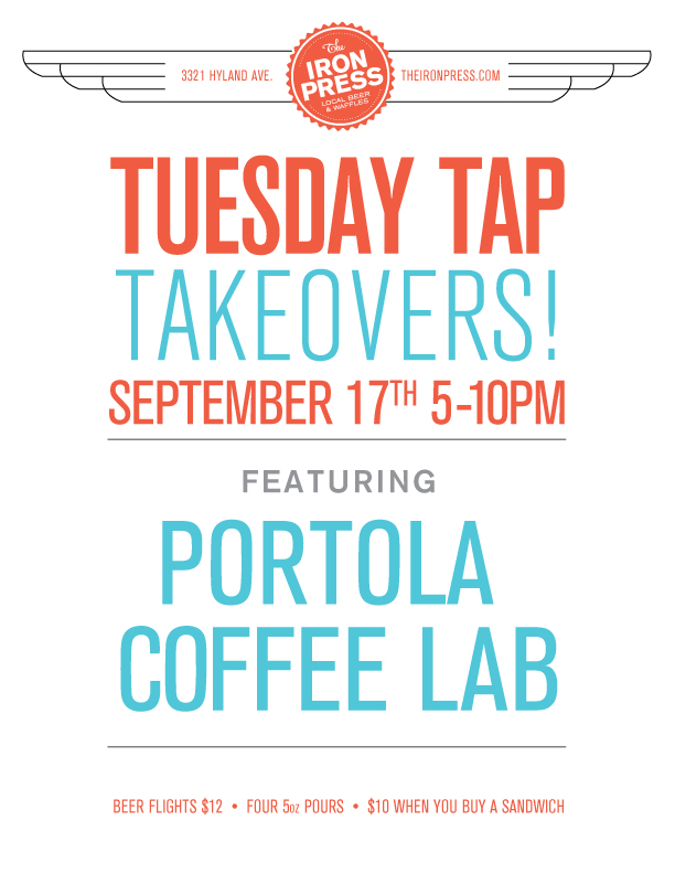 Tuesday Tap Takeovers - Portola Coffee Lab