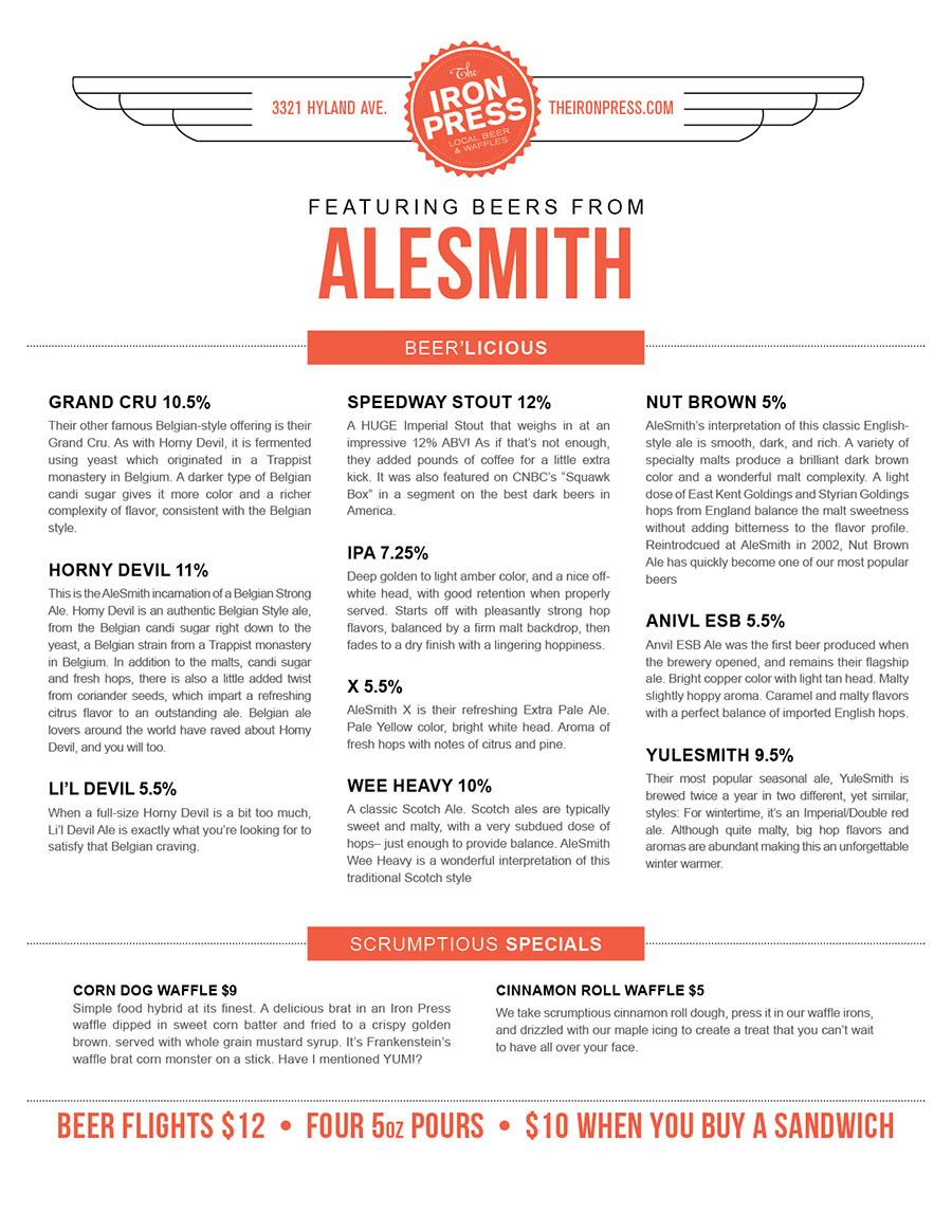 AleSmith x The Iron Press