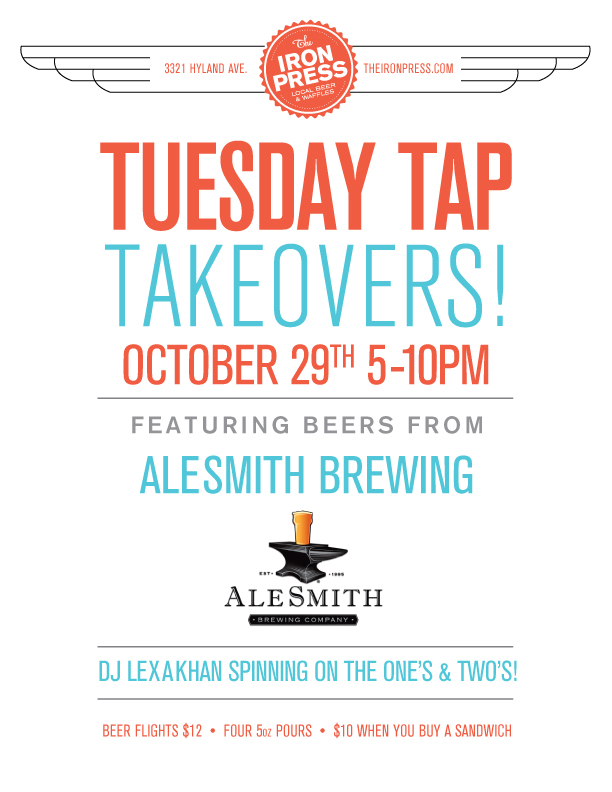 Tuesday Tap Takeovers - The AleSmith Edition