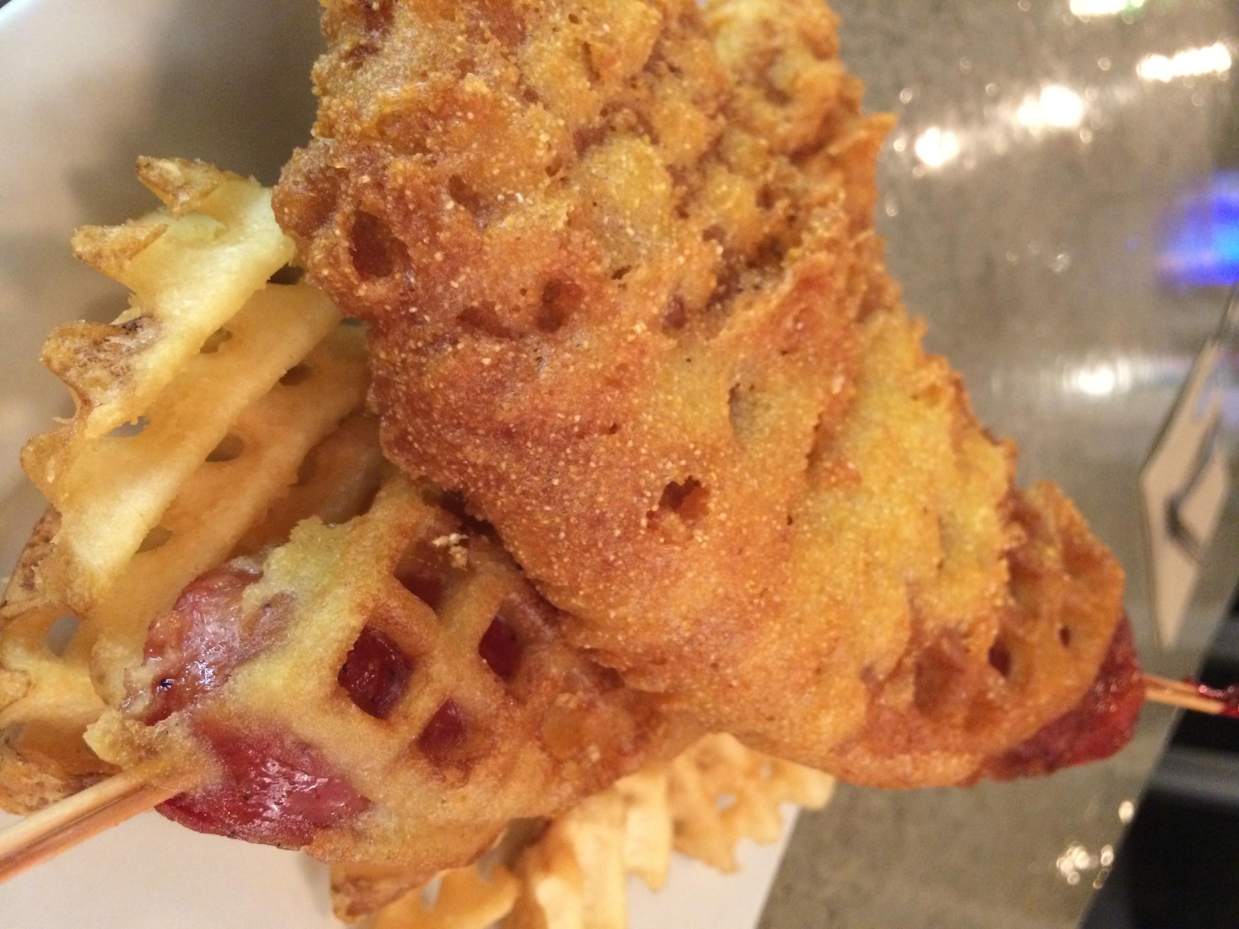 Corn Dog Waffle