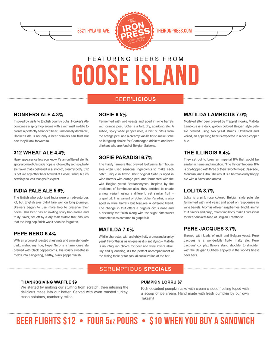Goose Island x The Iron Press