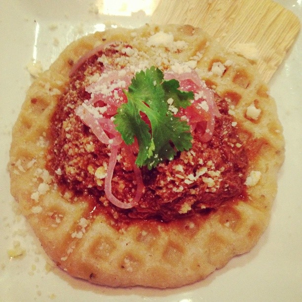 Deconstructed Tamale Waffle