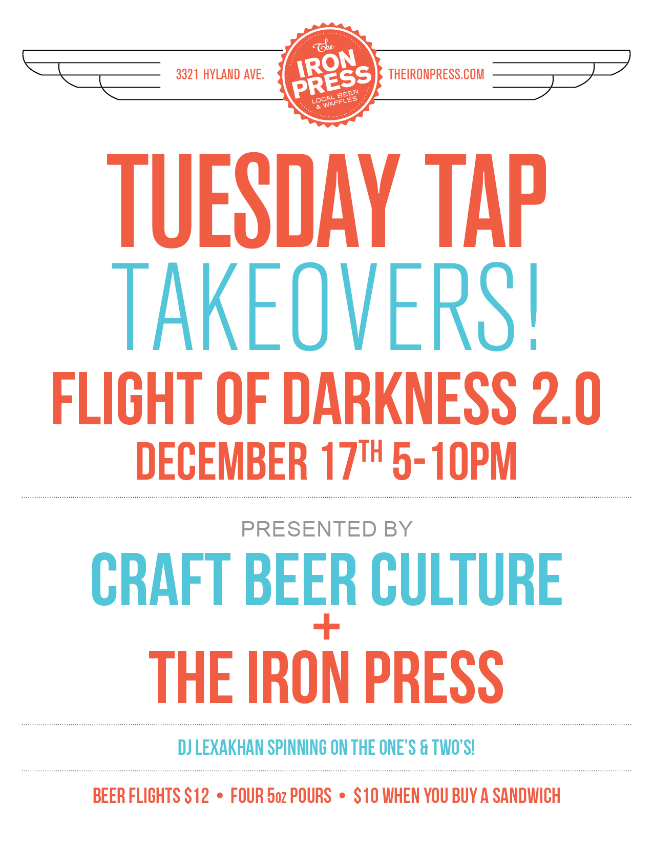 Tuesday Tap Takeovers – Flight of Darkness 2.0 Edition