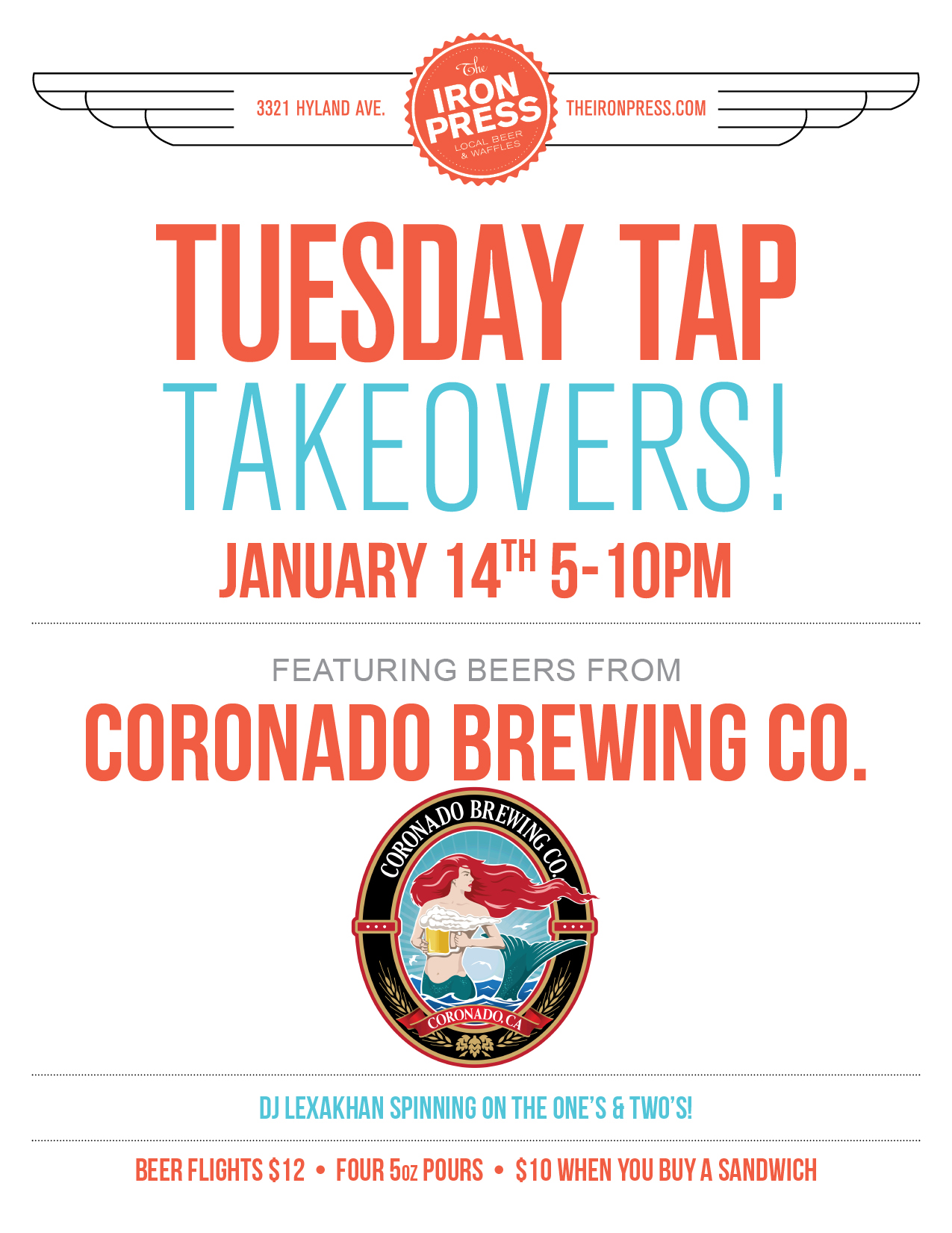 Tuesday Tap Takeover - The Coronado Brewing Company Edition