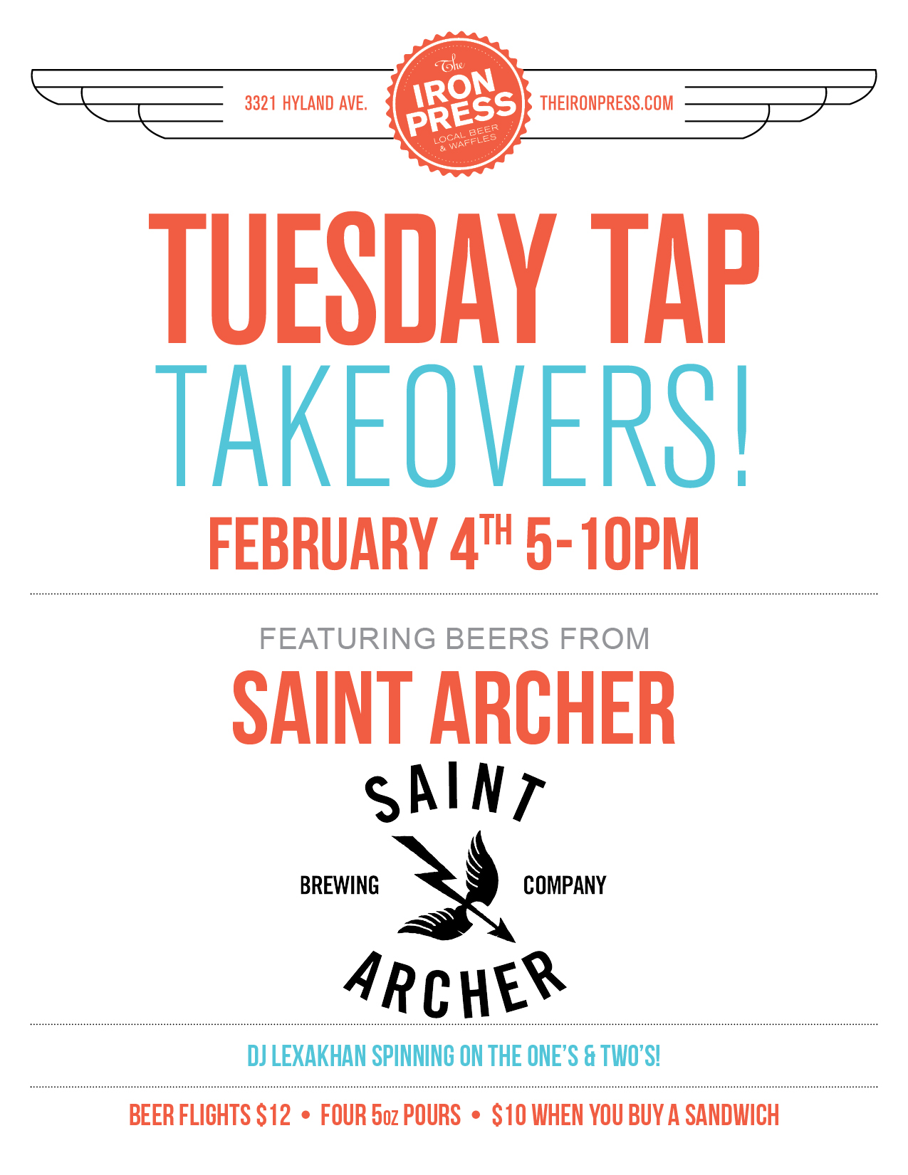 Saint Archer Brewing x The Iron Press