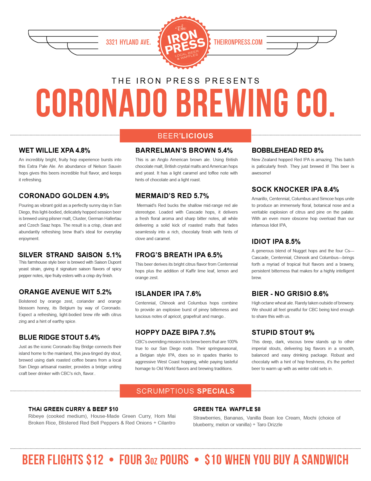 Coronado Brewing Company x The Iron Press