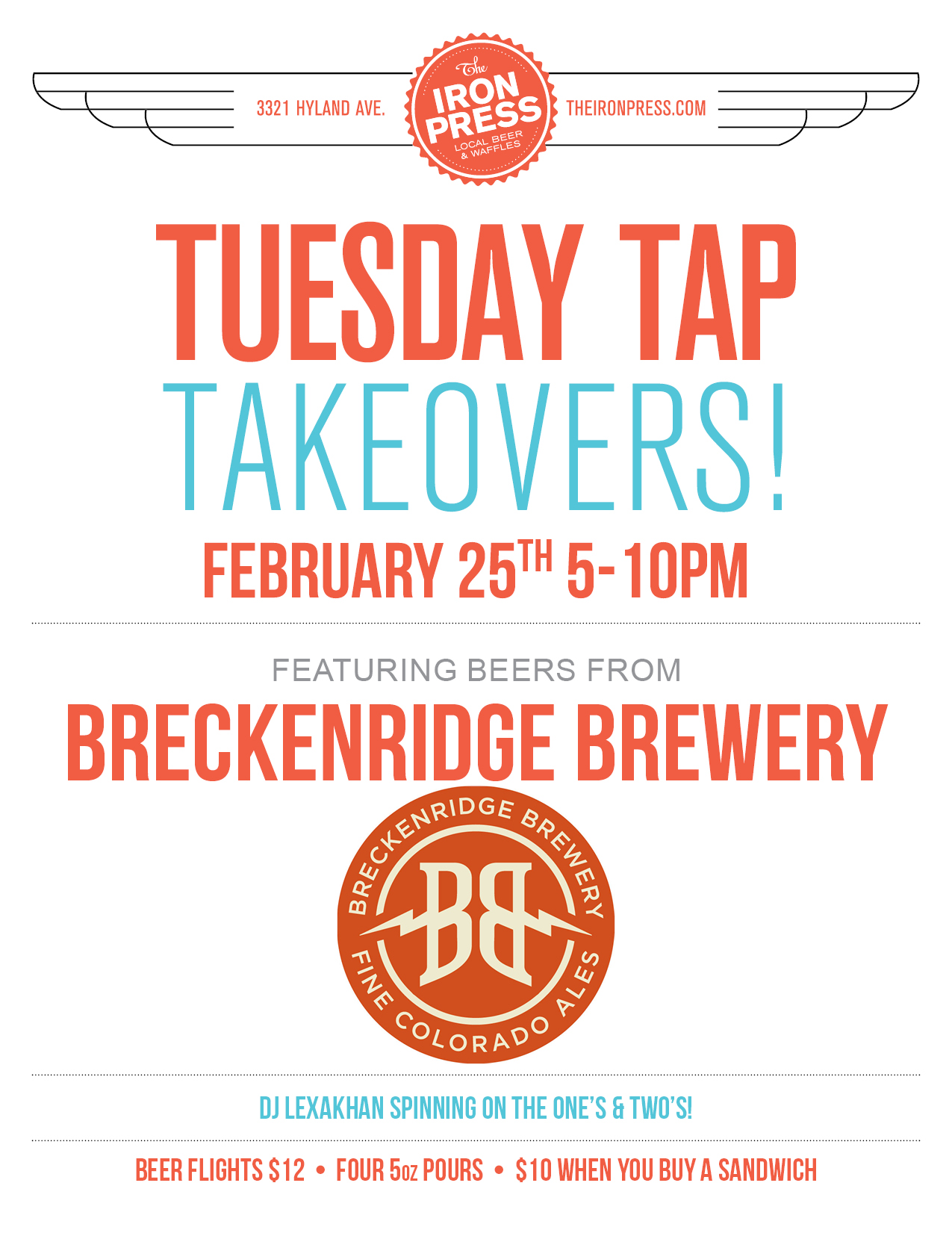 Breckenridge Brewery x The Iron Press