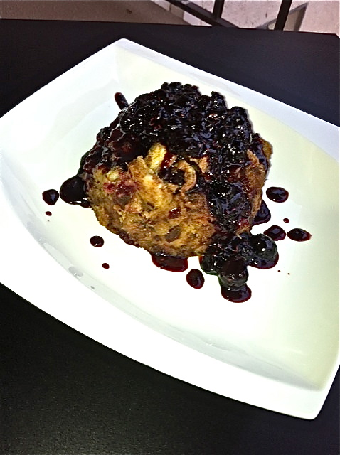 Cinnamon Bread Pudding topped with Bourbon County Jam