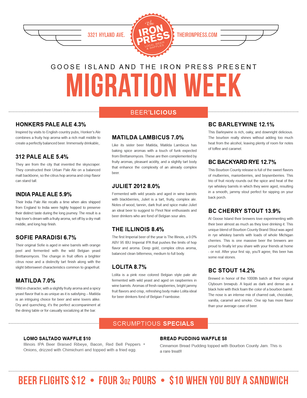 Goose Island Migration Week x The Iron Press