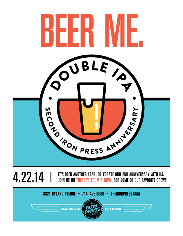 Double IPA - The Iron Press' Second Anniversary Basheroo!