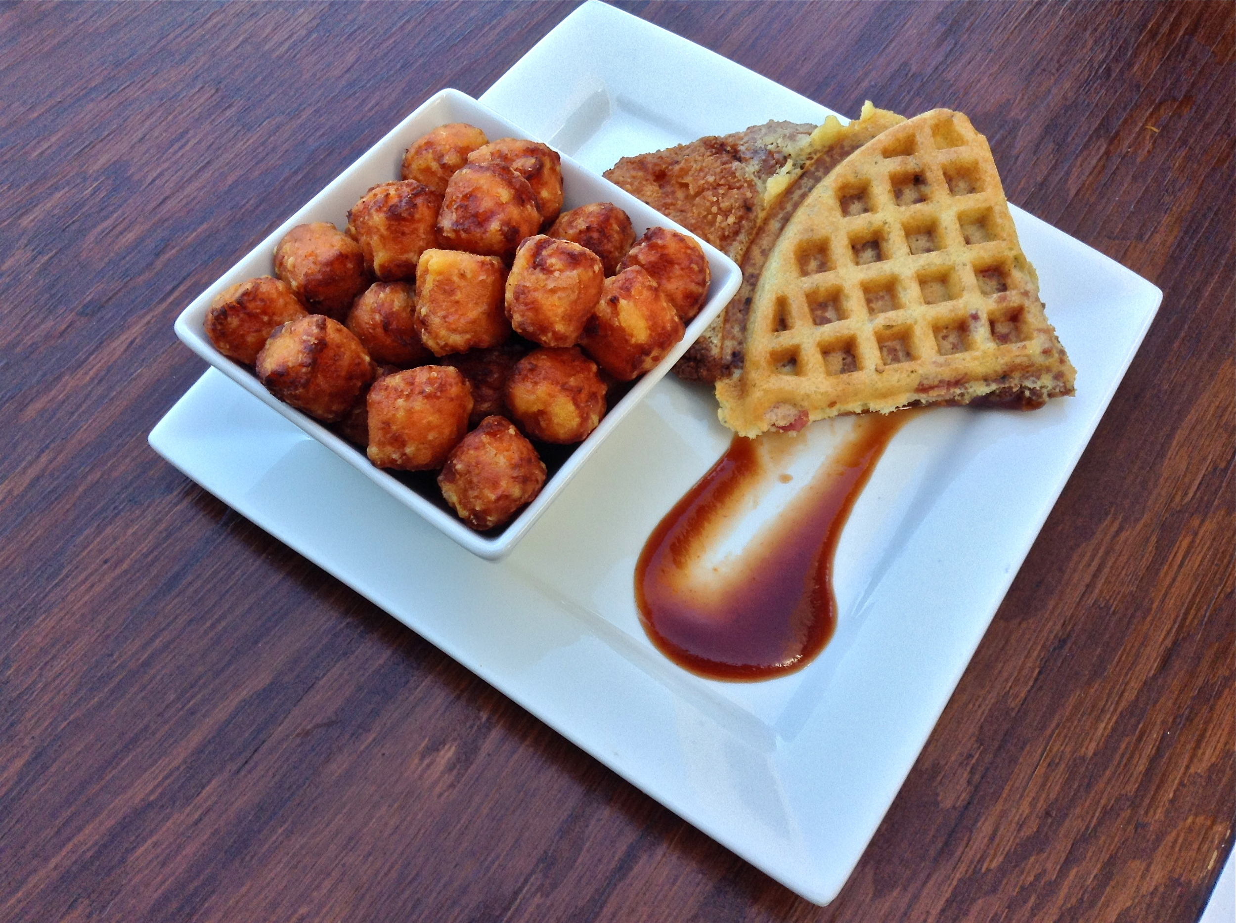 Jalapeño Bacon Fried Chicken and Waffle