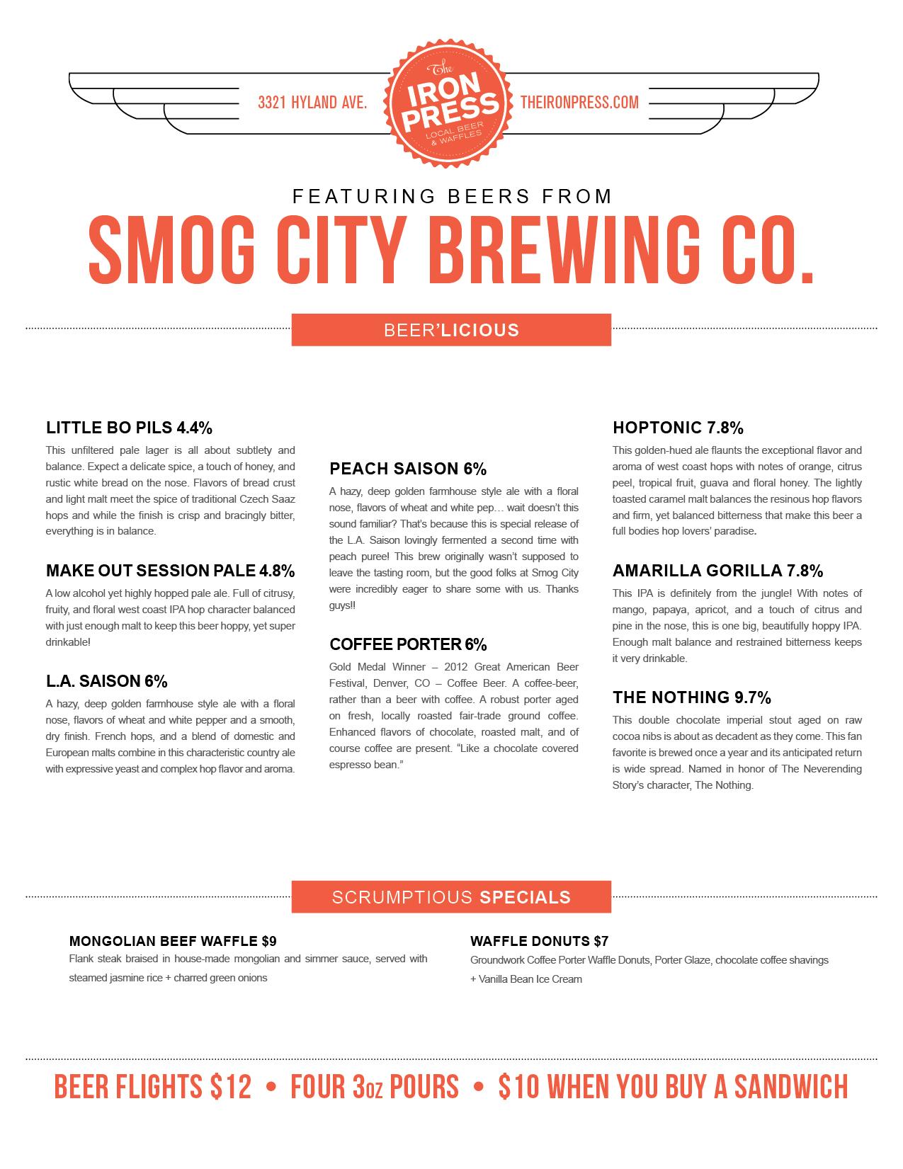 Smog City Brewing x The Iron Press
