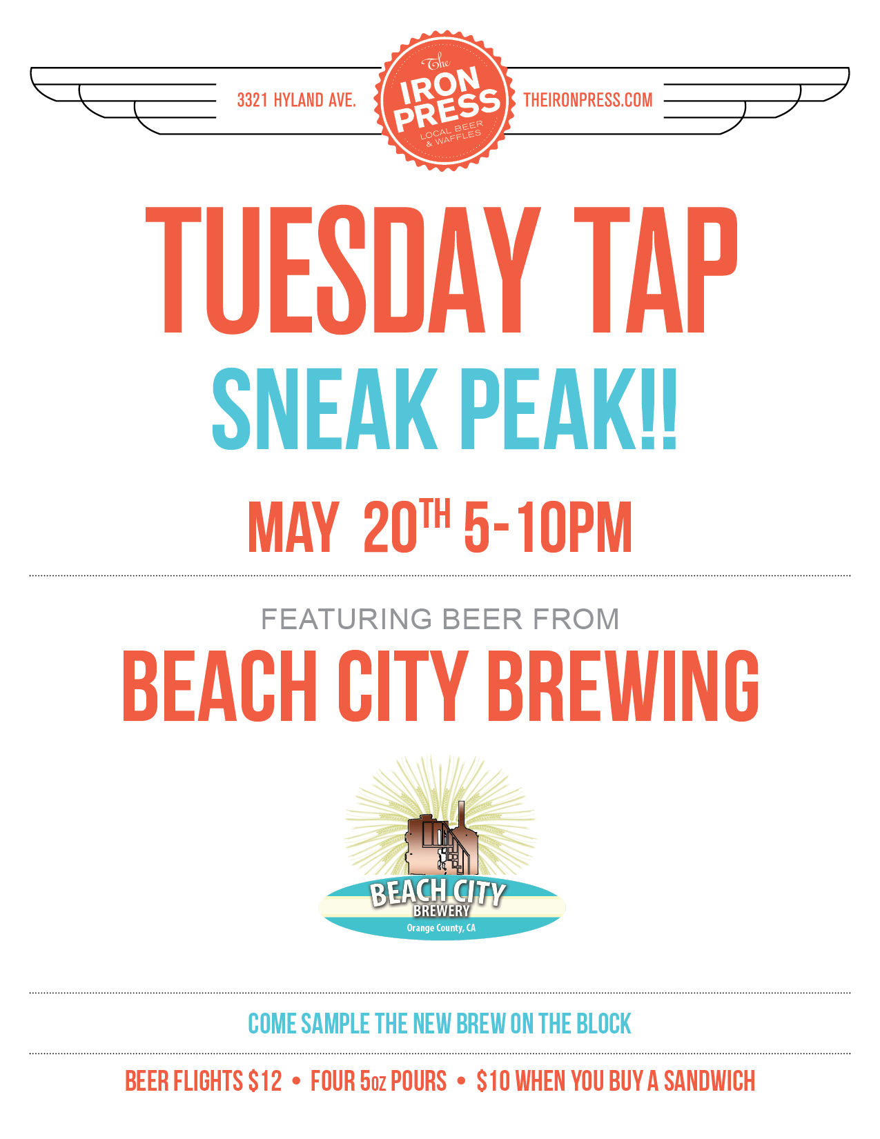 Beach City Brewery x The Iron Press