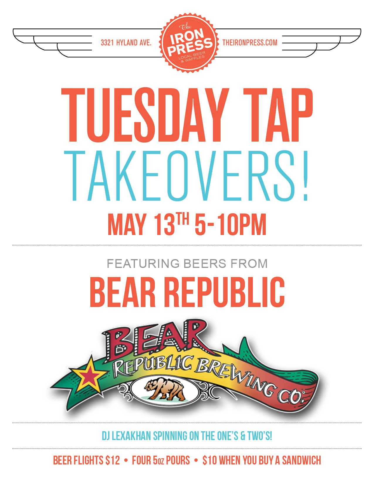 Tuesday Tap Takeovers - The Bear Republic Brewing Co. Edition