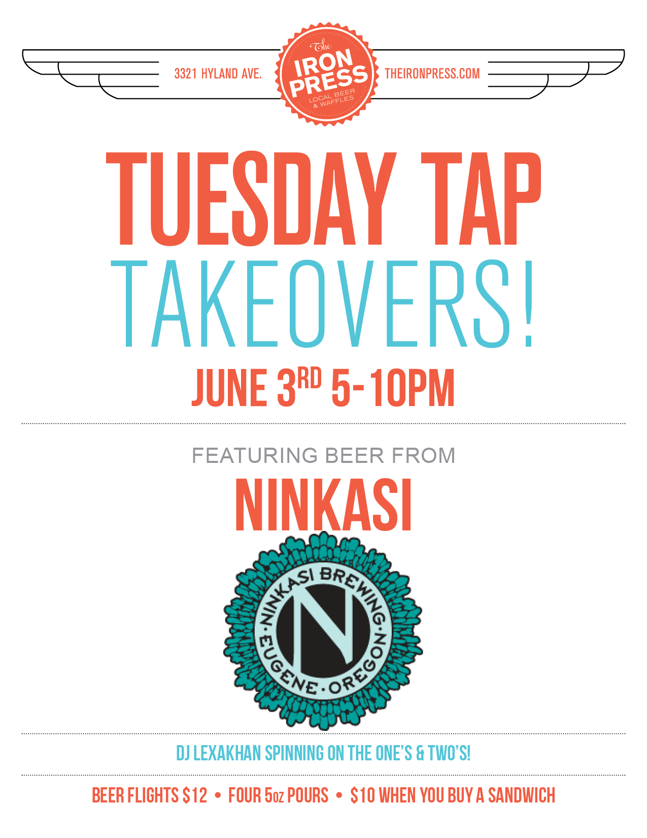 Tuesday Tap Takeovers - The Ninkasi Brewing Edition