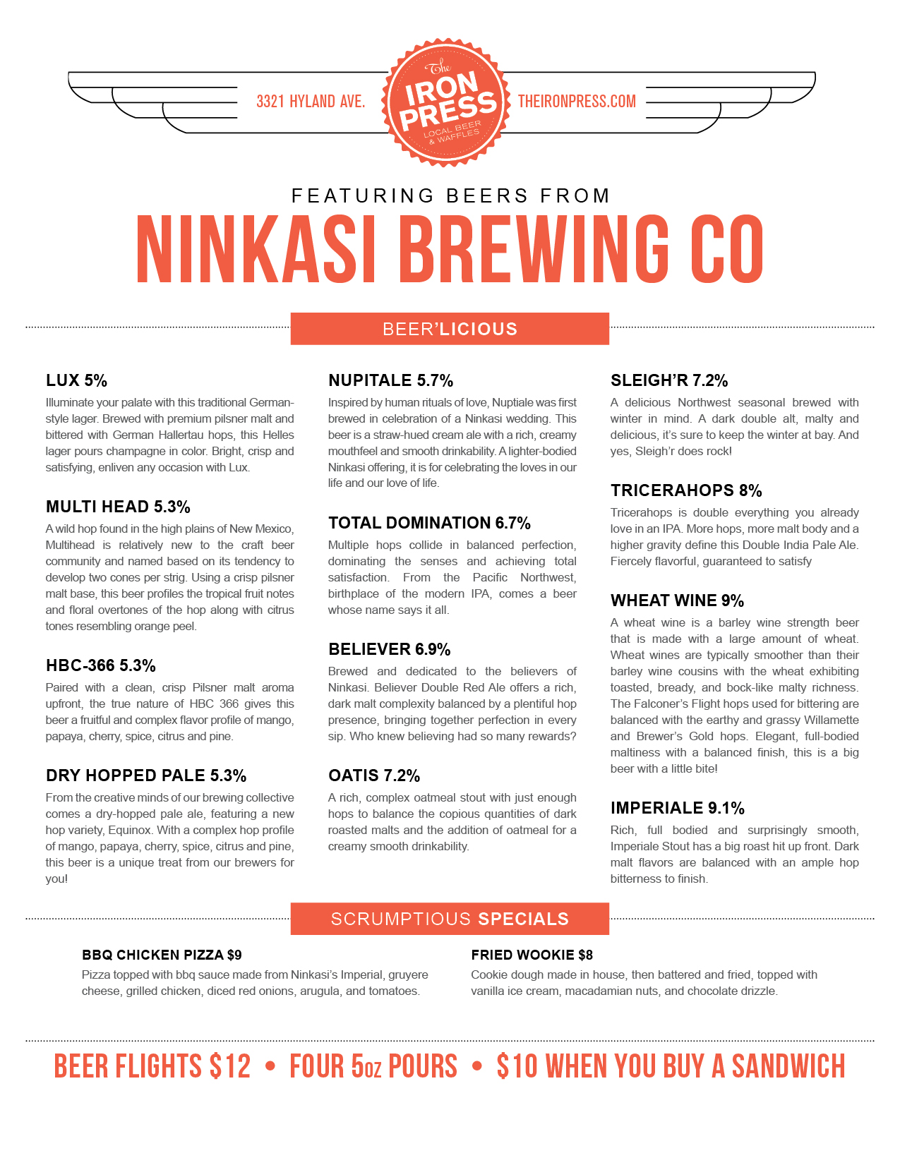Ninkasi x The Iron Press