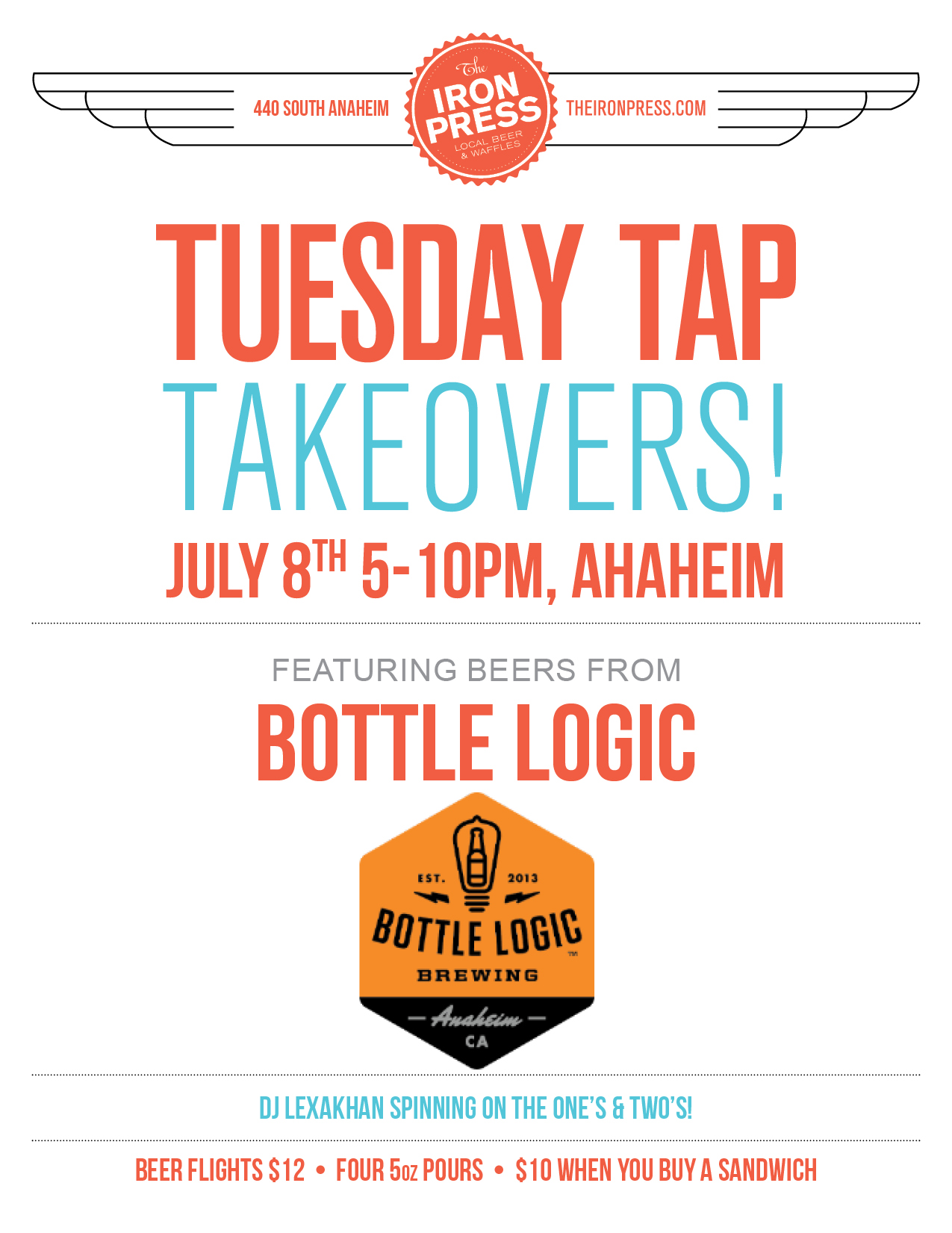 Tuesday Tap Takeovers - The Bottle Logic Brewing Edition