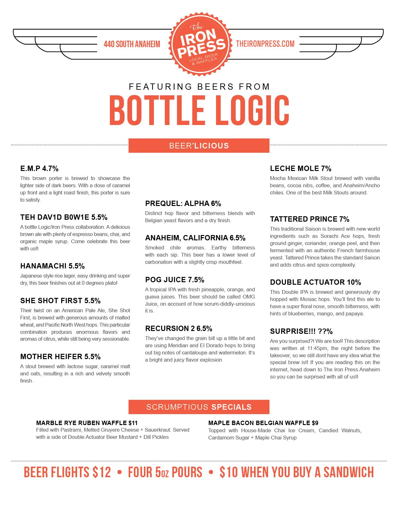 Bottle Logic Brewing x The Iron Press