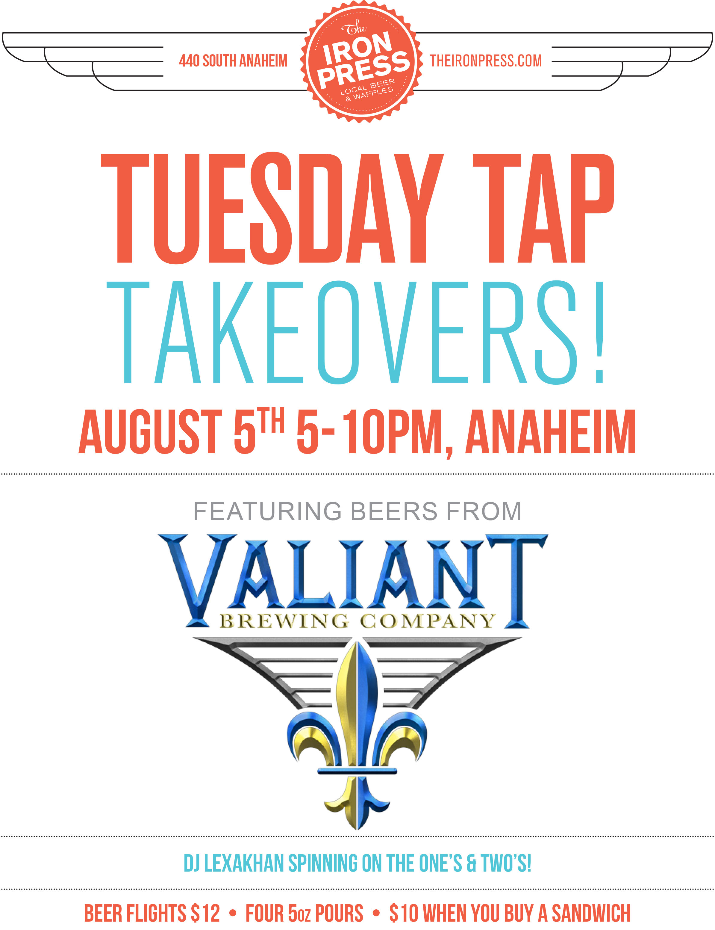 Tuesday Tap Takeovers - The Valiant Brewing Edition