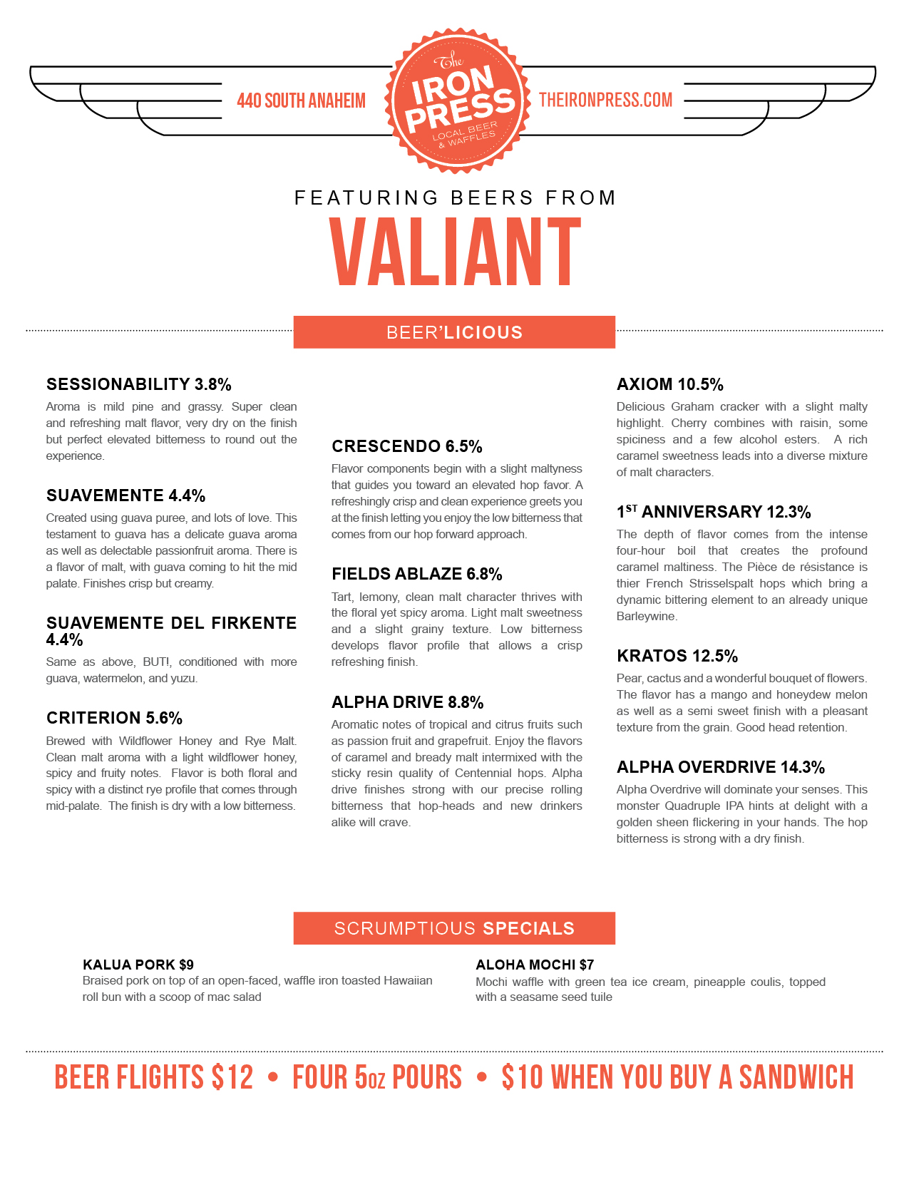 Valiant Brewing x The Iron Press
