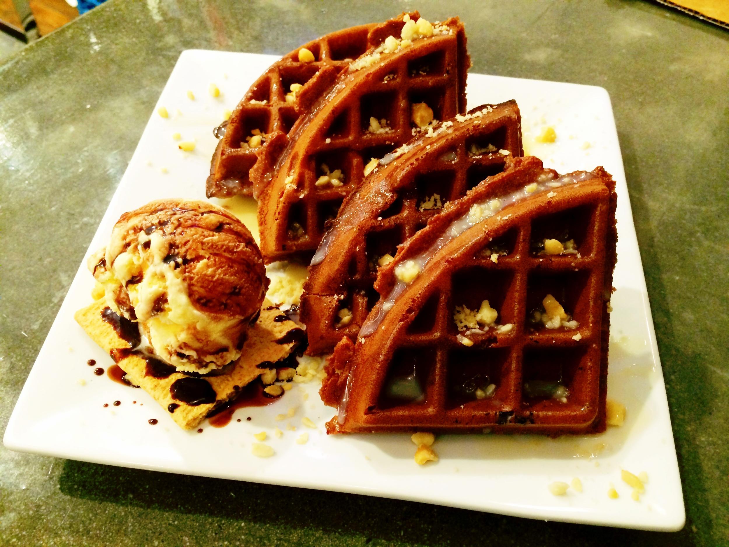 Chocolate Nut Waffle