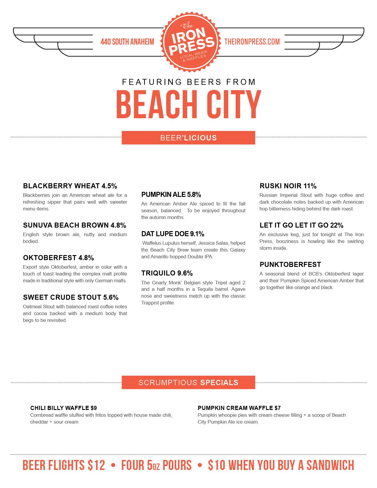 BeachCityBrewingAnaheimMenu