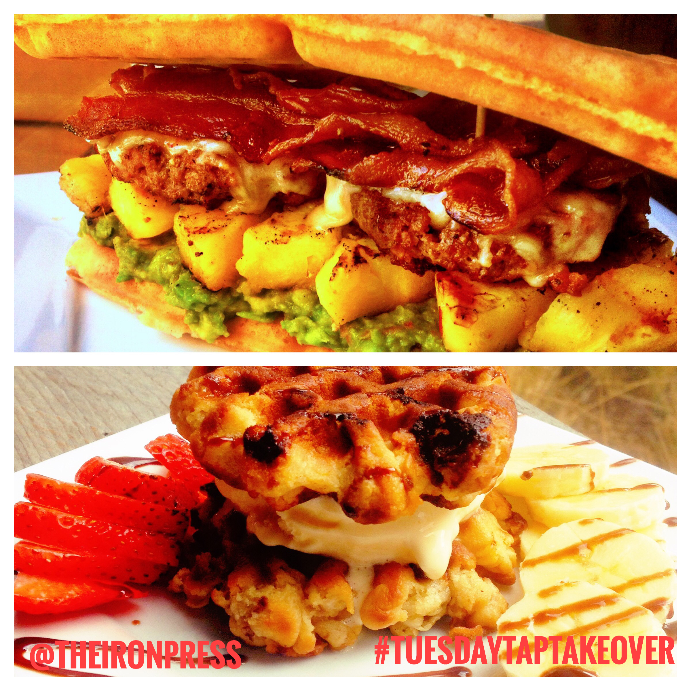 Hawaiian Waffle Burger + Fruity Wookie Sandwich