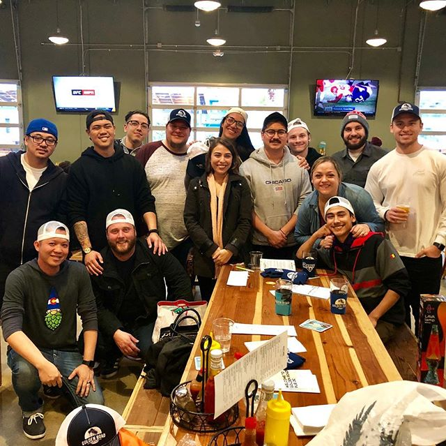 The whole crew is out today for a little beer camaraderie and staff appreciation!... We're having an awesome time drinking delicious suds, eating tasty food and playing some serious Uno matches!