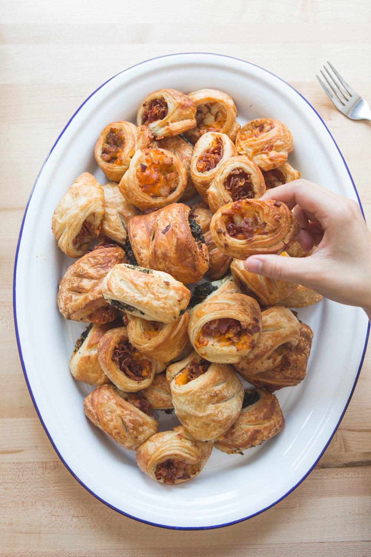 Brekkie® Rolls. Warm croissant rolls featuring bacon, sausage and veggie options.