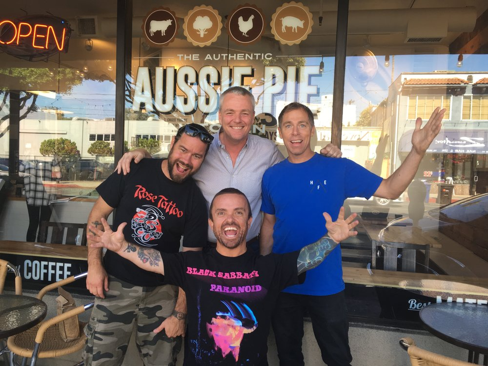 The  Jackass  lads kicked off their Australian visit with the announcement at our place.