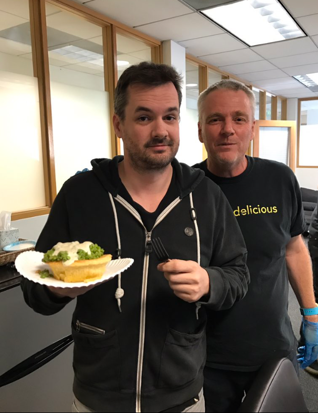 The amazing  Jim Jeffries . - fan of our pies and Coopers Green