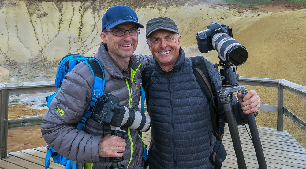 Talking composition and camera gear for a minute or two with Art Wolfe, Iceland 2015