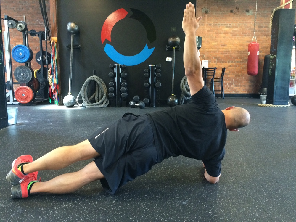 Side Plank with Horizontal Abduction Finish