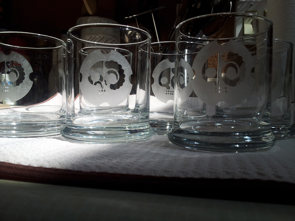 DrunkSkull Etched Highballs
