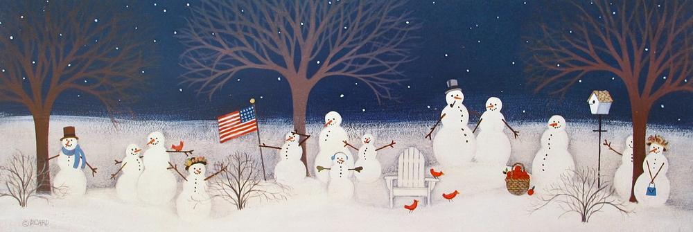Patriotic Snowmen