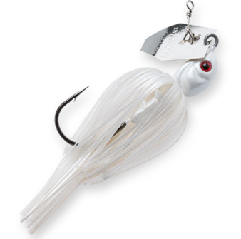 White is excellent for bass feeding on shad, and for fishing around hard cover in muddy water.