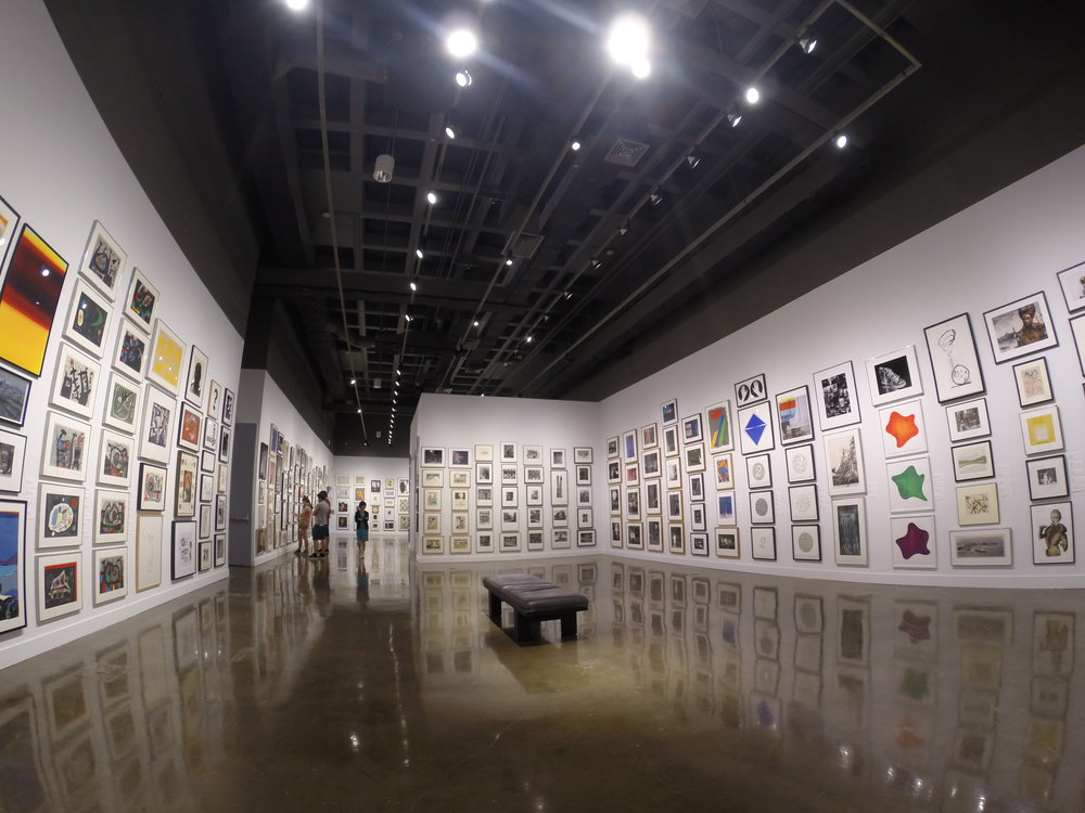 Installation shot of the Student Loan Art Program at MIT List Visual Art Center (Photo by Creative Katz)