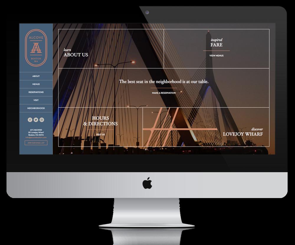 Alcove Website, Design/Programming by Brooke Porter