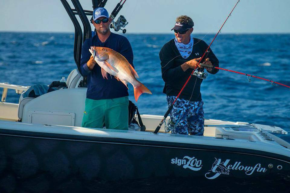 Big Mutton snapper caught by steve in the florida keys on  a light tackle spinning rod with an artificial deep jig, while fishing offshore on the reef.