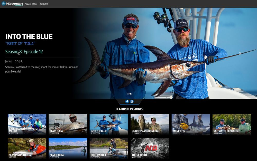All the best fishing shows are now on Waypoint tv
