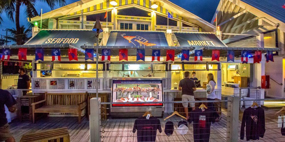 Three Hands fish market in Key west