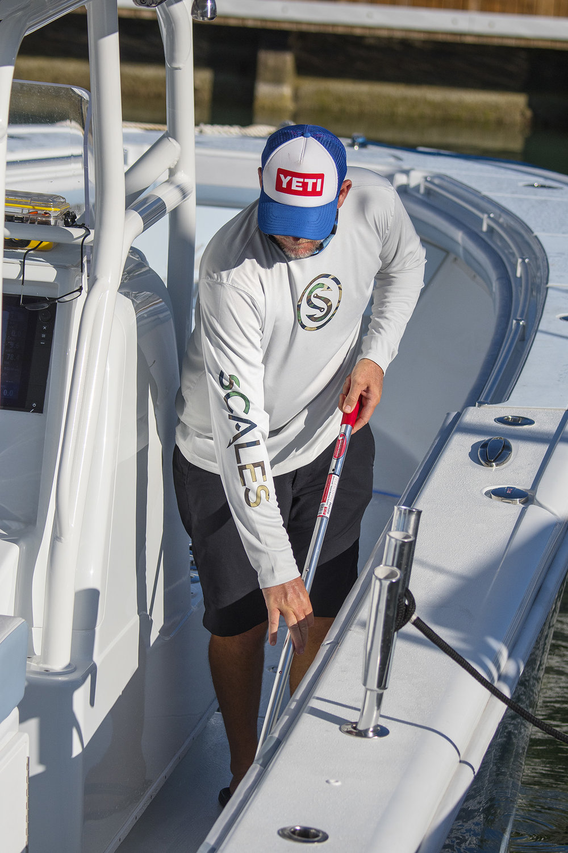 Captain Steve Roger keeps the deck clean thanks to SeaDek.