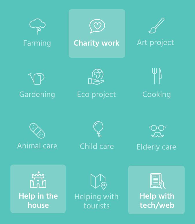 Workaway mobile app -