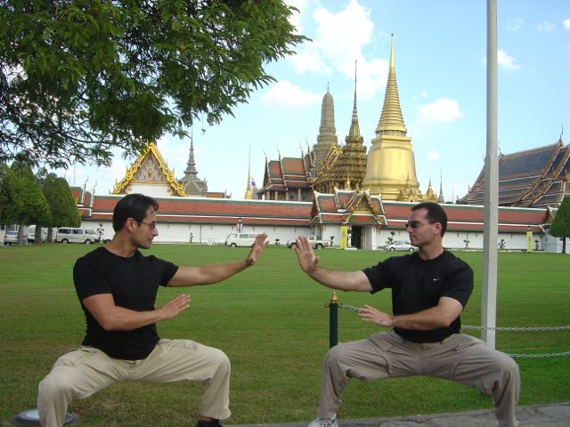 With Master John Buckley at the Grand Palace - Bangkok, Thailand 2006.