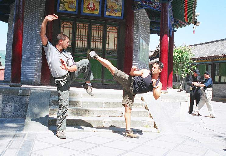 In action with Master Alex Czech (Germany) while touring in China.