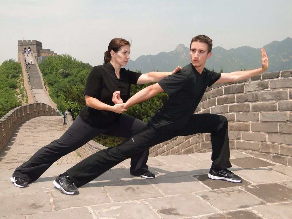 With Ms. Morgan Newman on the Great Wall of China - 2010.