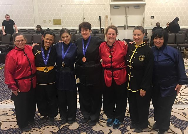 Great job ladies! Congrats to Mrs Doar on medaling in her weapon division! @usksf @ibfda_org #usksf2016