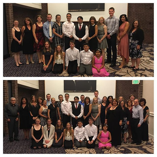 Our team (above) and with family members (below) at the hall of fame banquet @usksf @ibfda_org #usksf2016