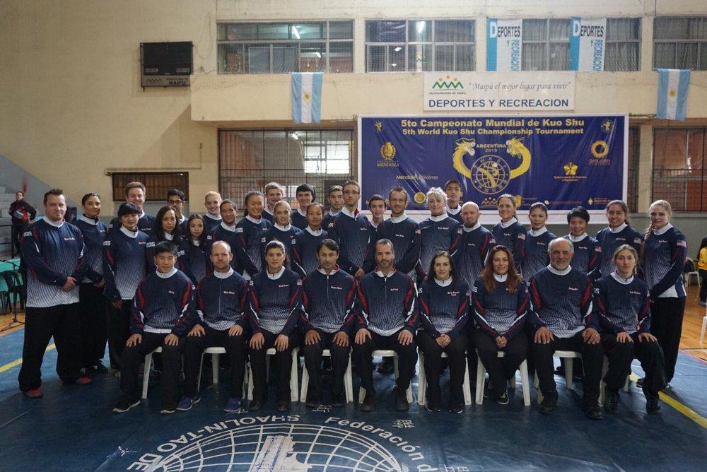 Master John Buckley, Master John Ozuna, and Master Morgan Newman with the Bok Fu Do team (2015)