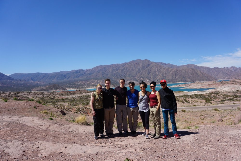 Master Ozuna and company on a day trip to the Andes mountains (2015)